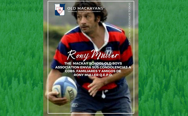 Enviamos condolencias a COBS, familiares y amigos de Rony Muller Q.E.P.D